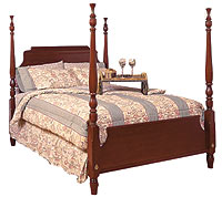 cherry scroll bed